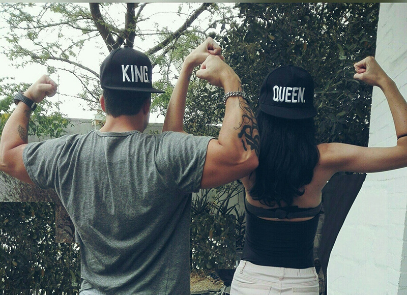 1PC KING QUEEN Embroidered Snapback