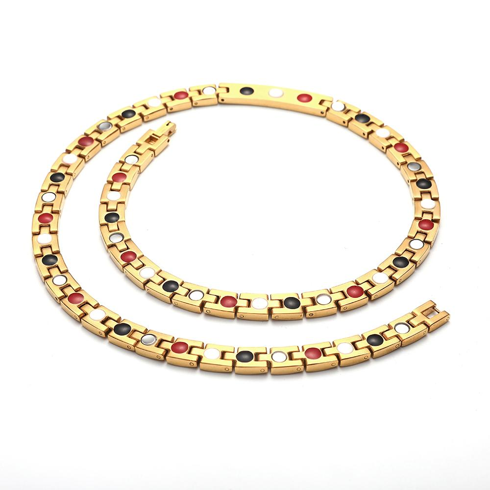 New Dubai Gold Color Chunky Chains Crystal Stainless Steel