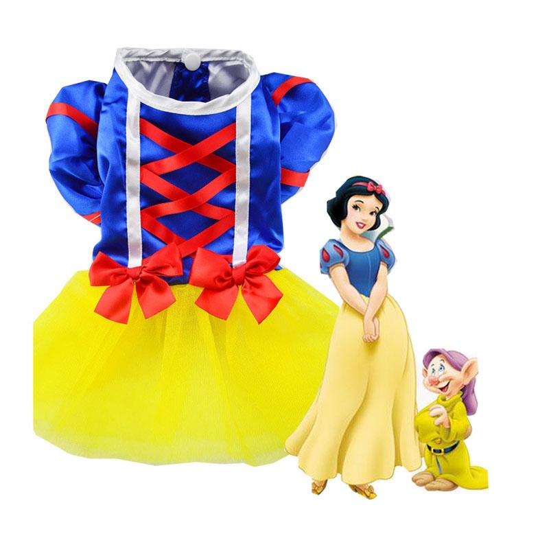 Dog Skirt New Princess Fancy Snow White Clothes Costumes Apparel For Pet Puppy