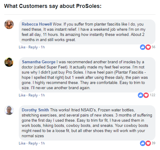 prosoles customers review