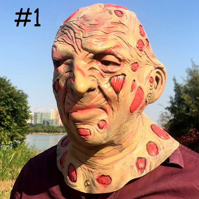 Realistic Scary Halloween Masks.2018 Halloween Mask Scary Adult Latex Masquerade Masks Realistic