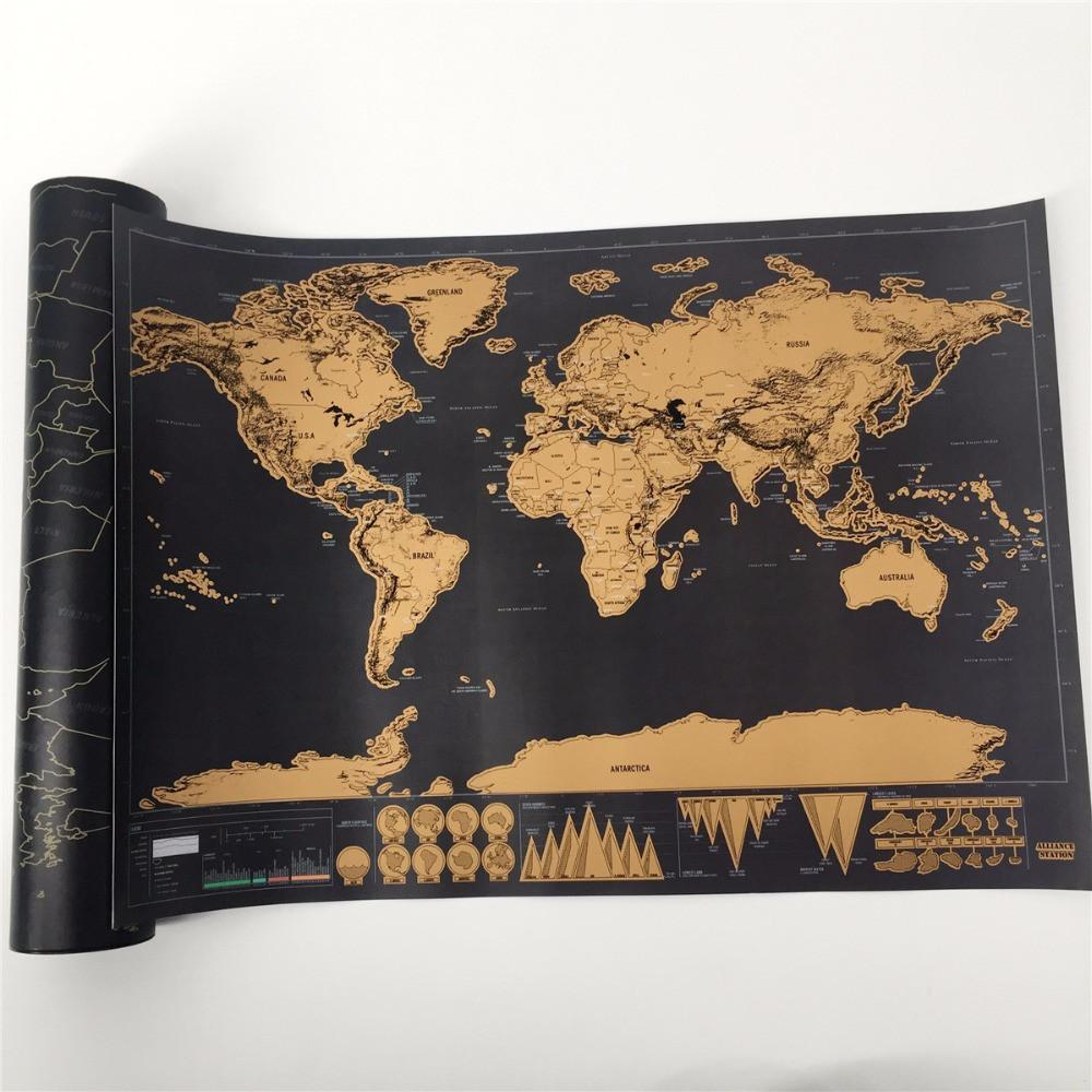 Scratch off world map poster gumiabroncs Gallery