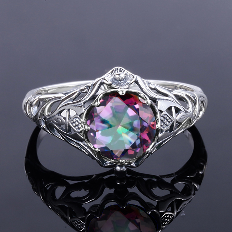 loading gemstone image mystic fire silver purple o topaz solitaire rings sterling is itm ring green