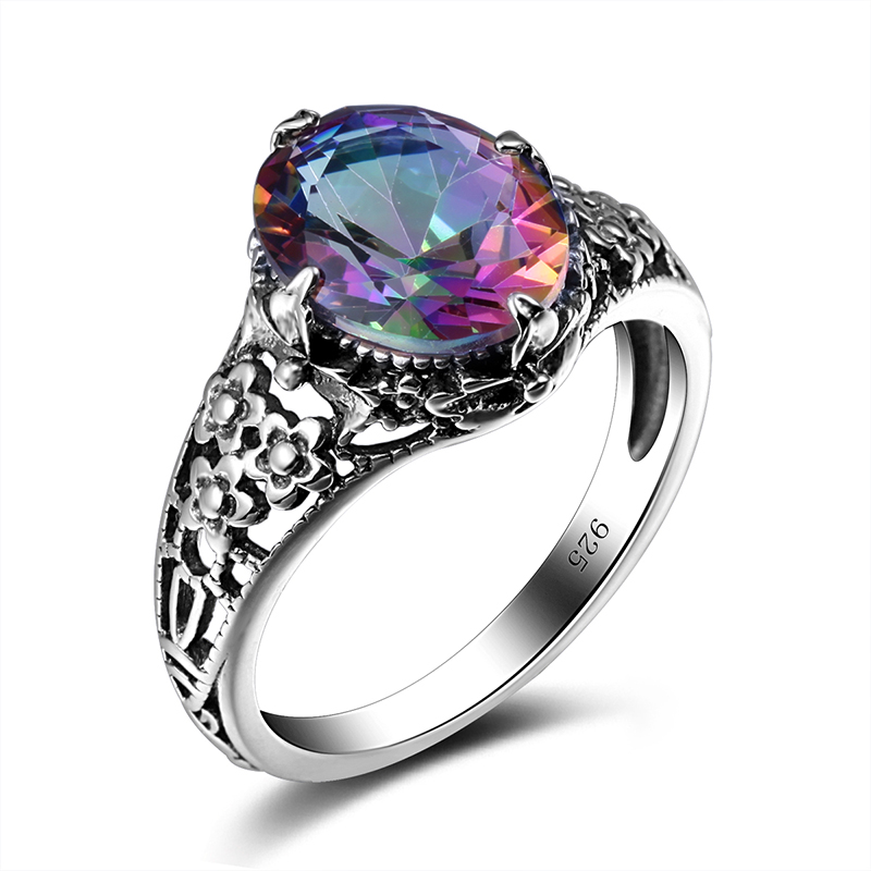 solitaire gems cut ring mystic fire rainbow rings round feshionn products genuine iobi precious wedding copy of topaz