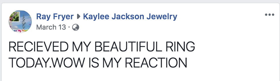 Happy Customer from Kaylee Jackson Birthstone Jewelry