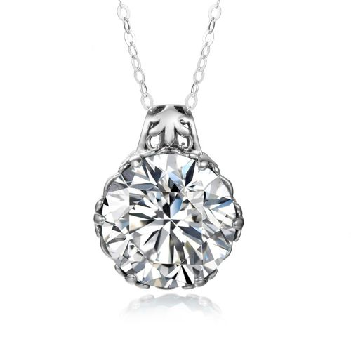 Silver Essence Necklace (Diamond)