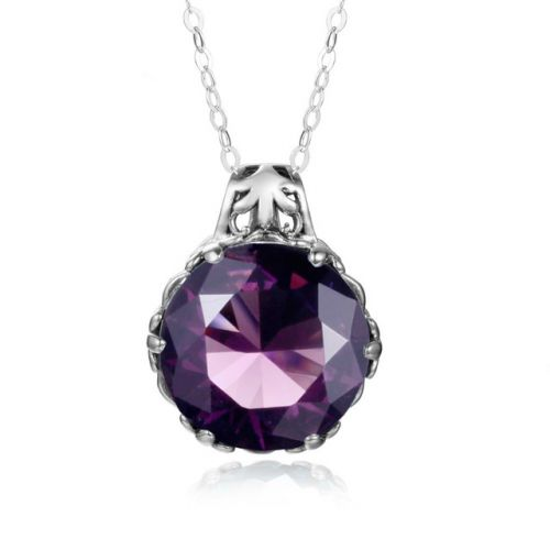 Silver Essence Necklace (Alexandrite)