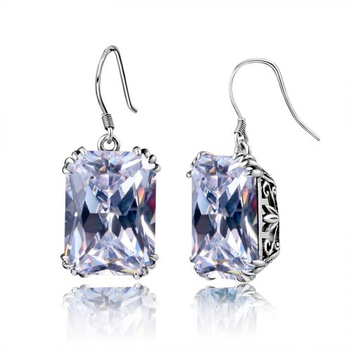Silver Stunner Earrings (Diamond)