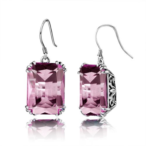Silver Stunner Earrings (Pink Tourmaline)