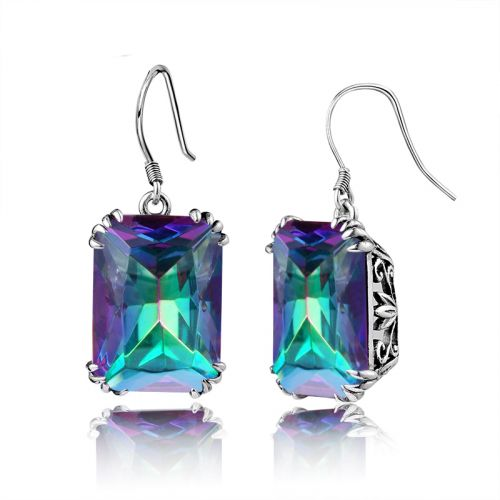 Silver Stunner Earrings (Mystic Fire Topaz)