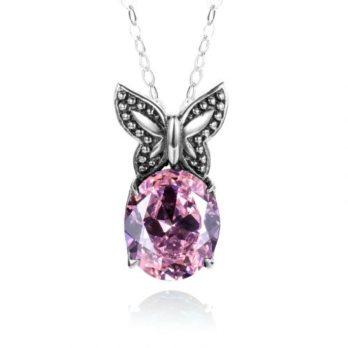 Miss Flutter Necklace (Pink Tourmaline)