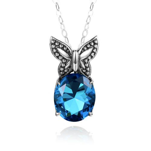 Miss Flutter Necklace (Blue Topaz)