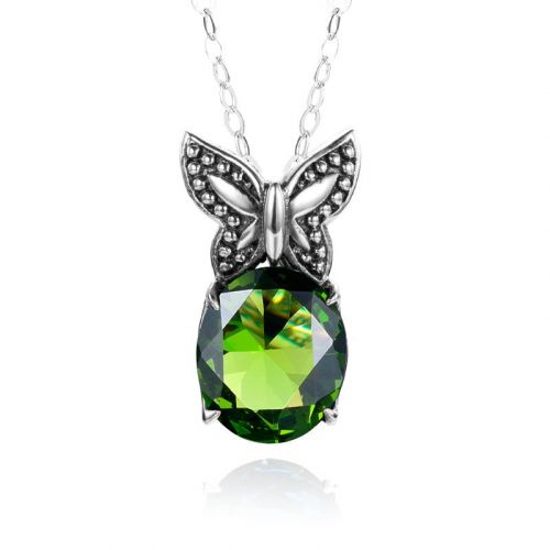 Miss Flutter Necklace (Peridot)