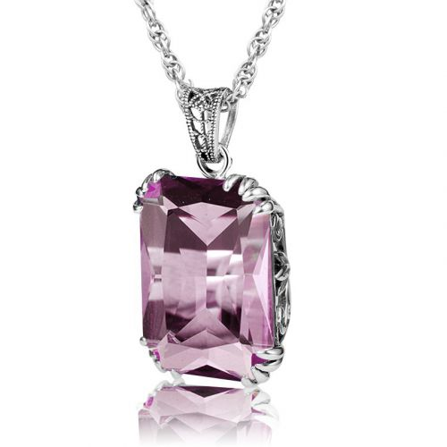 Silver Stunner Necklace (Pink Tourmaline)