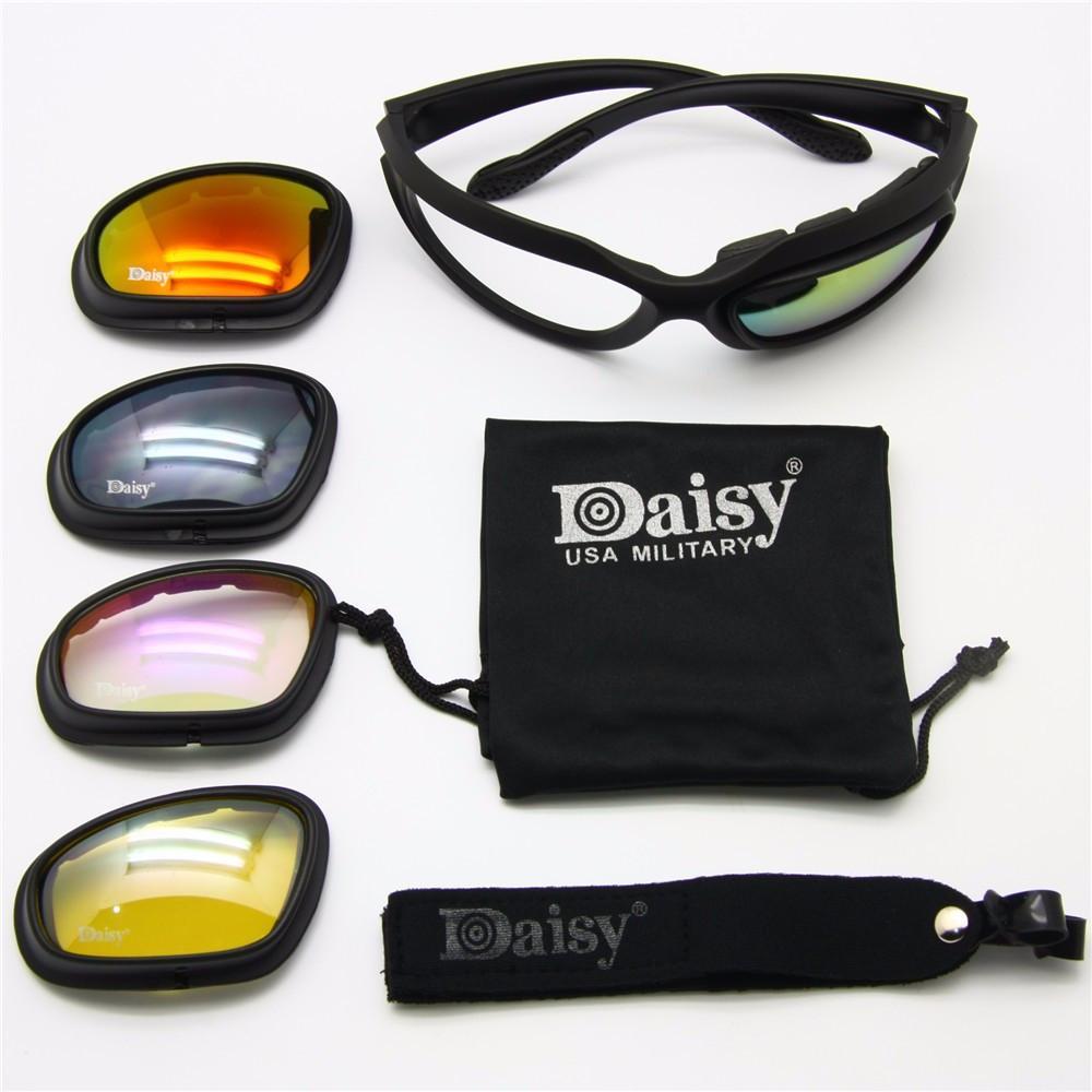 462dfce9a8b3 Daisy C5 Polarized Military Goggles Sunglasses 4 Lens Kit