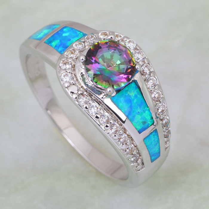fire pendant solid stores product genuine engagement rainbow mystic topaz wholesale wedding triangle women jewellery sterling earring rings ring set silver
