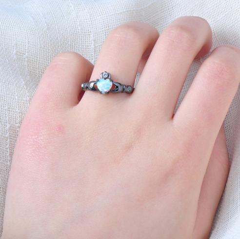 5e50f2713831c Reiki Healing White Fire Opal Heart Ring