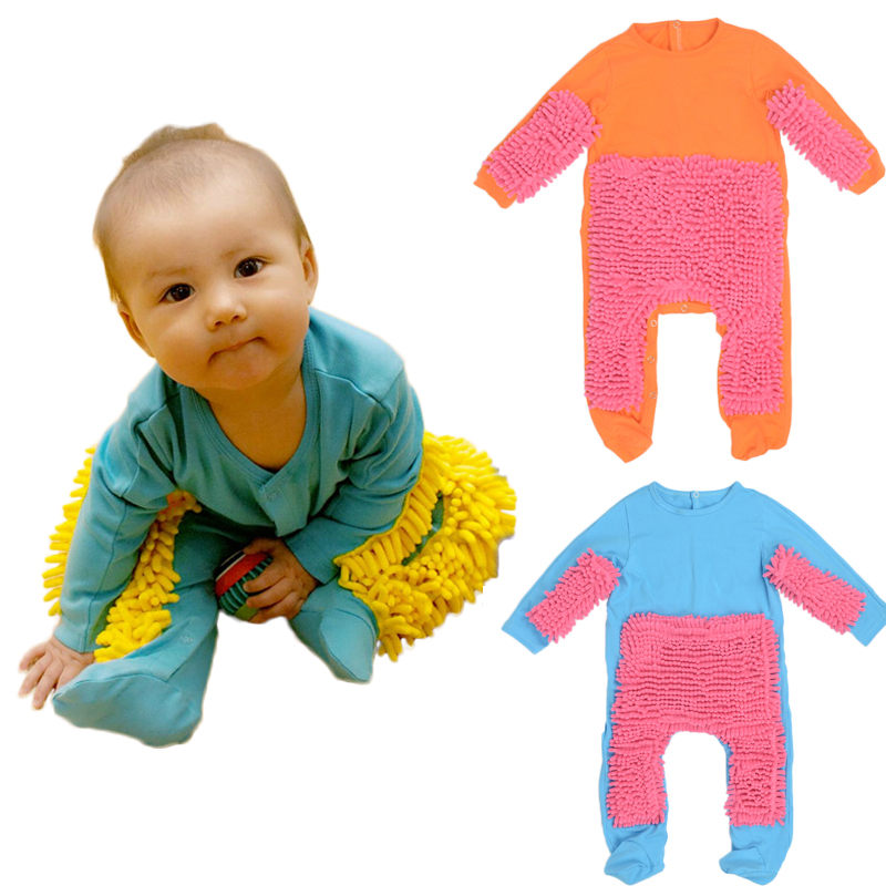 ebf73340d CUSHIONY BABY MOP ROMPER AND ONESIE FOR BOYS AND GIRLS - GREAT BABY SHOWER  GIFT!
