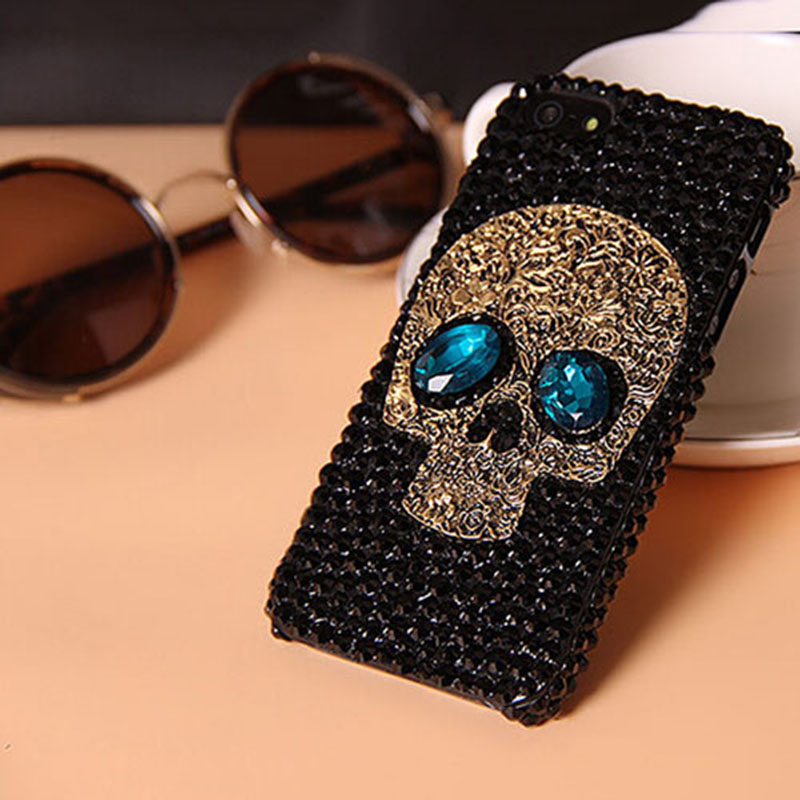 f41a2223cb Diamond Saphire Eye Skull Phone Case
