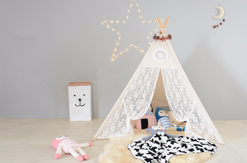 sc 1 st  Chasing Tiny Humans & Vintage Lace TeePee Tent