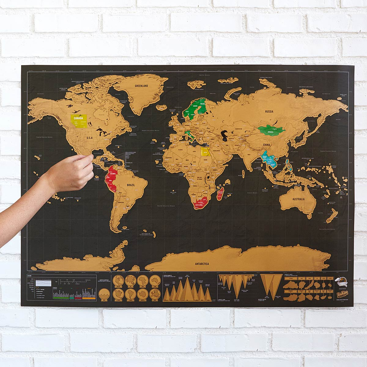wanderlust scratch off travel world map