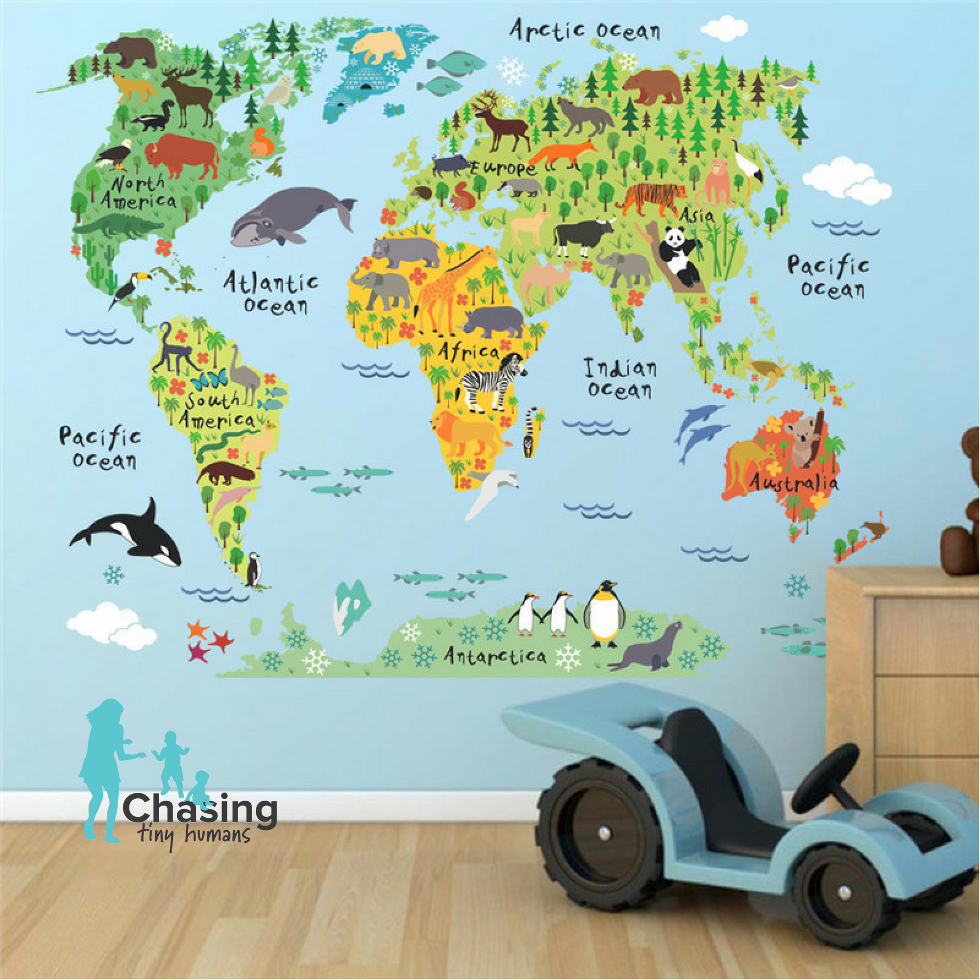Kids world map decal amipublicfo Gallery