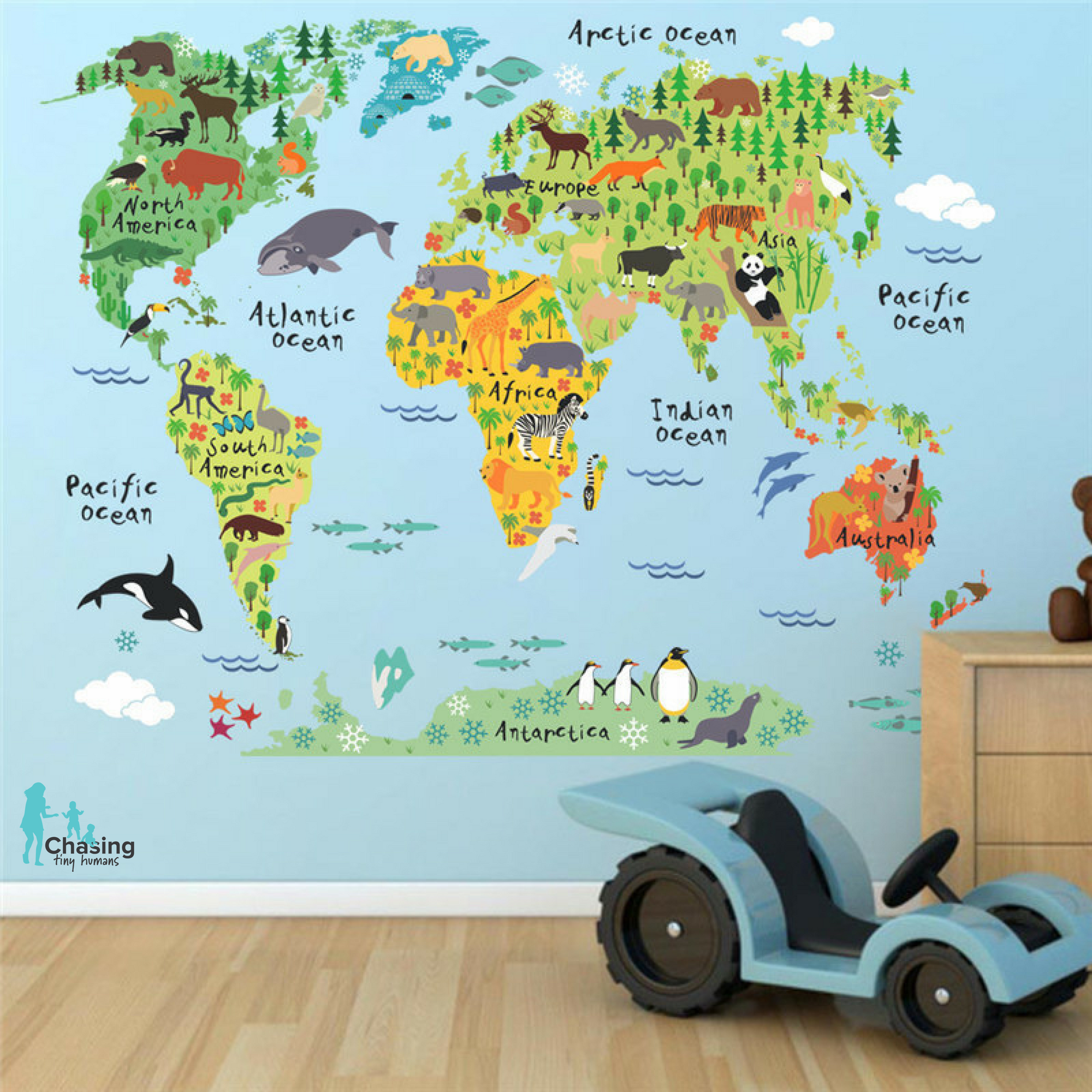 Kids world map decal gumiabroncs Choice Image