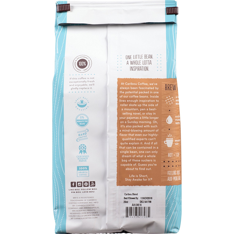 Caribou Coffee, Caribou Blend, Ground, 20 oz  bag, Smooth