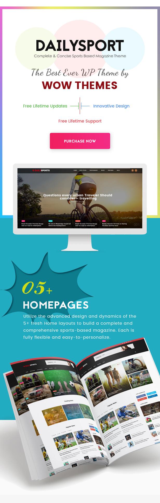 DailySports - Blog Sports and Magazine Responsive WordPress Theme