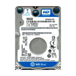 "WD®  																	Disco Notebook 500GB Sata3 2.5"" 5400rpm Blue 16MB"