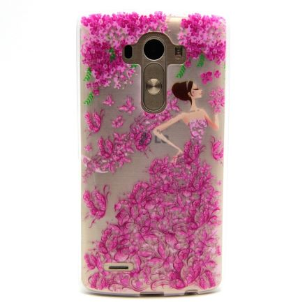 LG G4 Ultra thin Clear Suave TPU Telᄄᆭfono Nuevo Funda Protector Protector Shell (Flower Beauty)