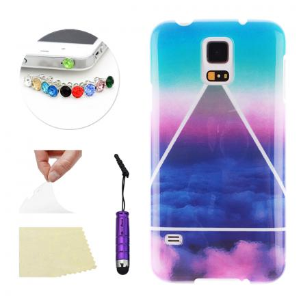 Ultra Delgado TPU Funda Protector Carcasa Para Samsung Galaxy S5 Mini Colorful Clouds