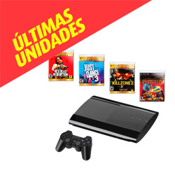 Sony®  Consola PlayStation 3 (PS3) 500GB + Red Dead Redemption + Just Dance 3 + Killzone 2 + Puppeteer