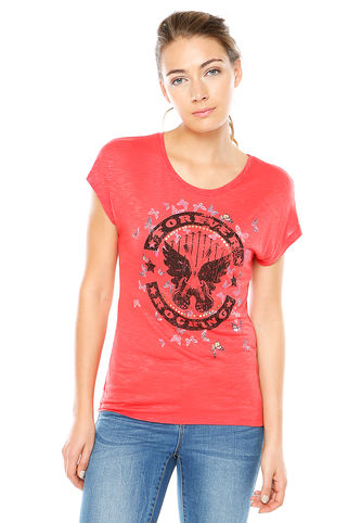 Polera Fiona M/C Forever Roja Only