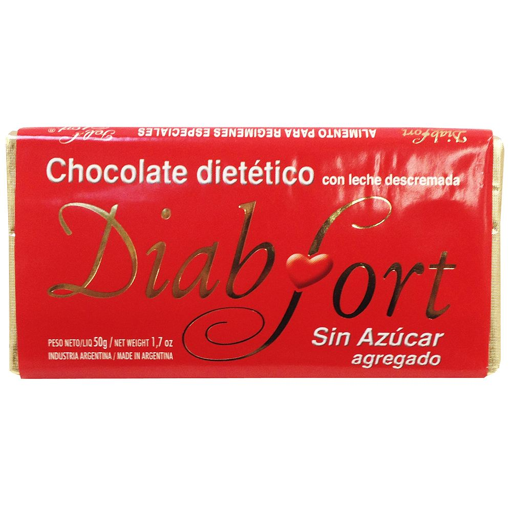 Chocolate Dietetico Barra 50 g