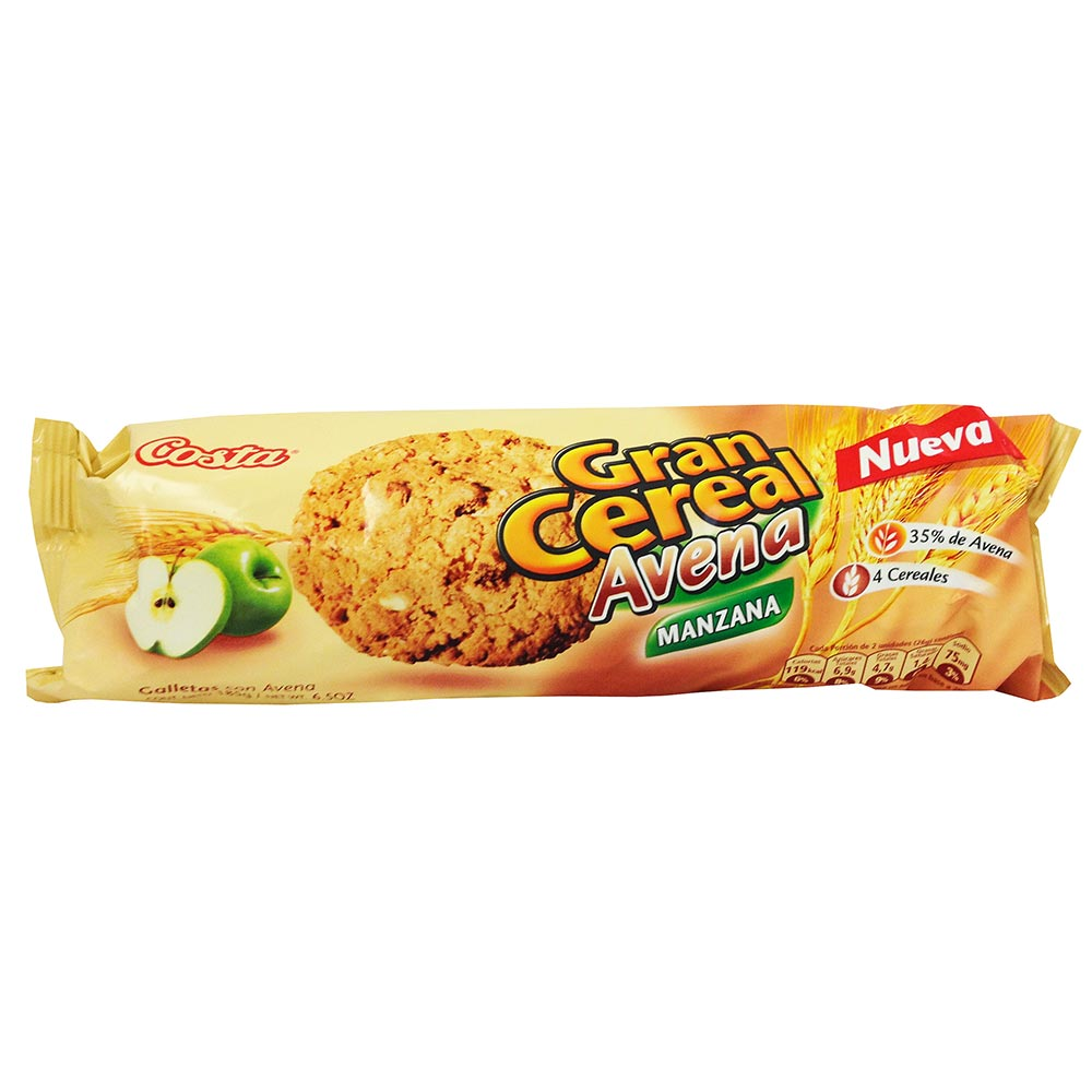 Galleta Gran Cereal Avena Manzana