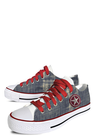 Zapatilla Denim Red Star (Red Laces) Lona Persopolis