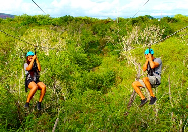 Product Zipline & Sunset Snorkel Dinner Cruise