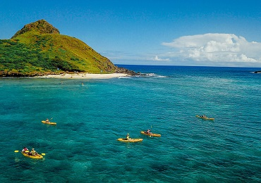 Oahu Guided Kayak Adventure  image 1