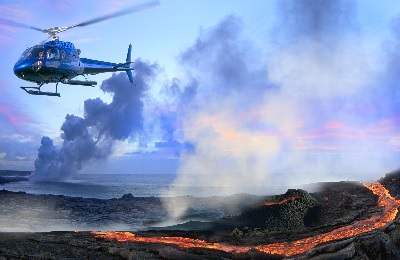 H2 Combo Hawaii Volcano w/Blue Hawaiian Helicopter