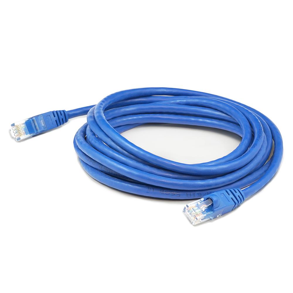 AddOn - ADD-1FCAT6A-BLUE 1ft RJ-45 Blue Cat6A UTP PVC Copper