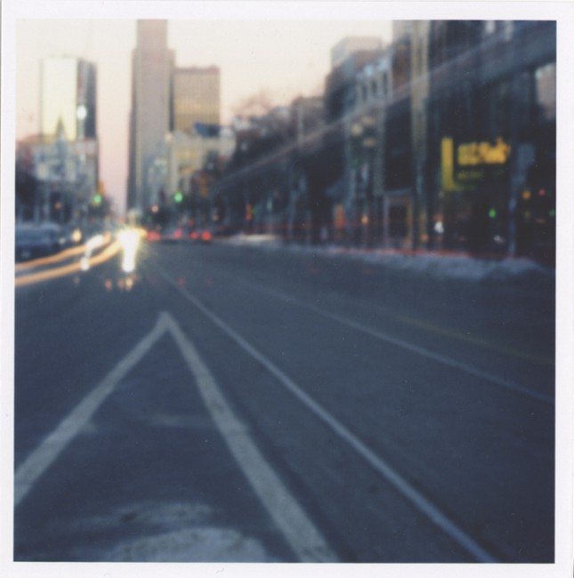 Michael Gilman, </span><span><em>Pinhole Tourist, 2005</em>, </span><span>Pinhole camera shot with  Kodak ISO 400VC 120 neg., 15  x 15 inches