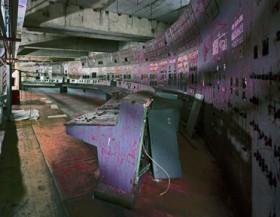 Robert Polidori, </span><span><em>Unit 4 Control Room, Chernobyl,, 2001</em>, </span><span>colour photograph, 40  x 48 inches