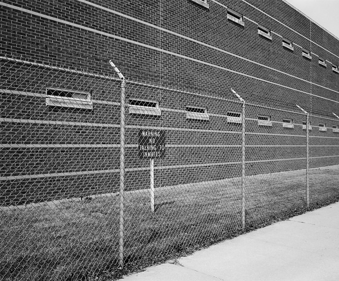 Michael Rafelson, </span><span><em>No Talking to Inmates  , 2002</em>, </span><span>36.5 X 30.2 inches, B&amp;amp;W archival digital image