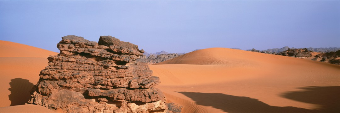 Roberta Bondar, Acacus Rock with Dunes, 2003, Photography 16.25 x 24 inches