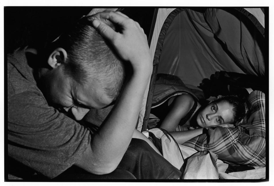 David Barker Maltby, </span><span><em>Teenage couple, Tent City, 2000</em>, </span><span>8.5 x 12.5