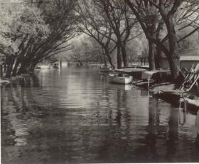 Reg Foster, </span><span><em>Lazy Lagoon, RCYC Toronto Island 1955</em>, </span><span>Black and White 8 x 10