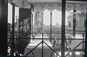 Lucy Molnar Wing, </span><span><em>Roman Dinner Reflection: 2006</em>, </span><span>B &amp;amp; W limited edition giclee print: 32