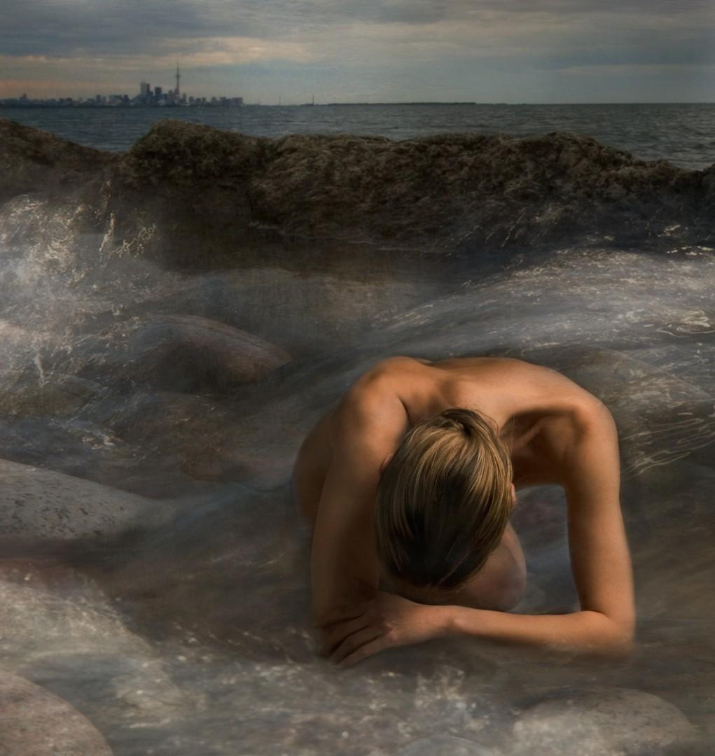 Miriana Mitrovich, Toronto Skyline 2006, GClay Print 12X13