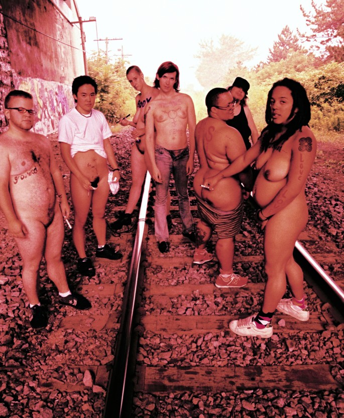 Chris Ablett, </span><span><em>Gender on the Body</em>, </span><span>C print, cross-processed colour-slide film, 8x10